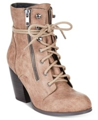 Mojo Moxy Dolce By Joelle Lace Up Booties Women's Shoes Brown