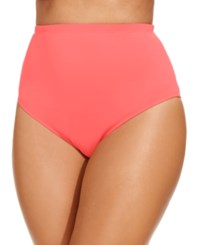 Lablanca La Blanca Plus Size High Waist Swim Bottoms Women's Swimsuit Watermelon