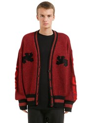 Yeezy Graphic Wool Knit Long Cardigan Brick