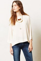 Anthropologie Leyden Top Ivory
