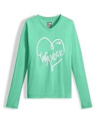 The North Face Long Sleeve Reaxion Tee Girls' Size Xxs Xl Green