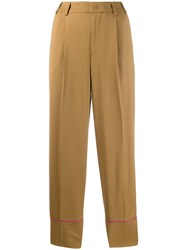 Pt01 Daisy Piping Detail Trousers Neutrals