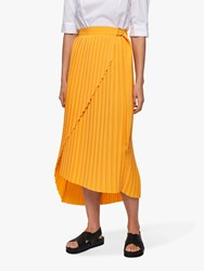 Selected Femme Melly Pleated Midi Skirt Radiant Yellow