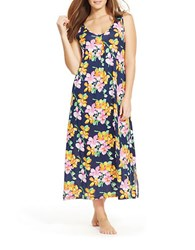 Lauren Ralph Lauren Plus Floral Maxi Nightgown Navy Floral