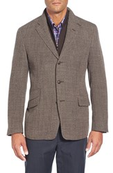 Men's Big And Tall Corneliani Classic Fit Wool Blend Sport Coat With Removable Liner Light Brown