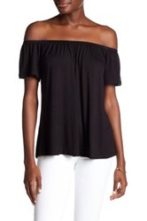 Socialite Off The Shoulder Blouse Black