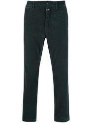 Closed Corduroy Straight Leg Trousers Green