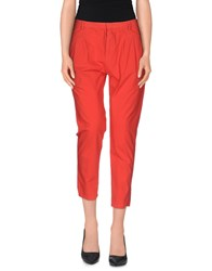 .. Merci Trousers 3 4 Length Trousers Women Red