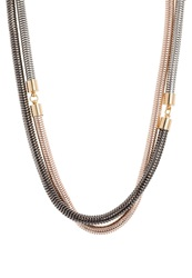 Kiomi Necklace Gun Rosegold Gunmetal