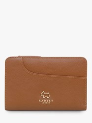 Radley Pockets Leather Medium Zip Top Purse Tan