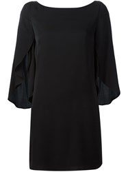 Milly Draped Sleeves Dress Black