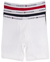 Tommy Hilfiger Men's Athletic Boxer Brief 3 Pack Mahogany