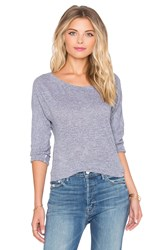 Lanston Boyfriend Tunic Long Sleeve Tee Gray