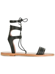 Red Valentino Lace Up Sandals Black