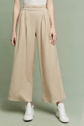 Anthropologie Maddalyn Wide Legs Taupe