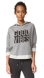 Sundry Vibes Cross Back Hoodie Heather Grey