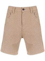 Osklen 5 Pockets Shorts Nude And Neutrals