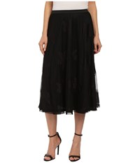 Bobeau Lace Aline Skirt Black Women's Skirt