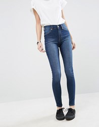 Cheap Monday Spray On High Waist Organic Cotton Skinny Jeans Dim Blue