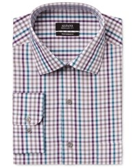 Alfani Men's Performance Multi Color Gingham Dress Shirt Only At Macy's Teal Multi
