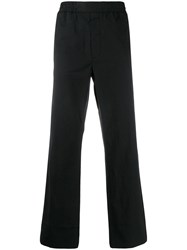Acne Studios Pinstriped Cropped Trousers Black