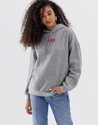 Pull And Bear Pullandbear Stranger Things Hoodie In Grey