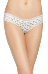 Cheekfrills Women's Lace Trim Bikini Palm Tree