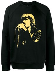 Neil Barrett Rockstar Print Sweater Black