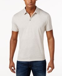 Alfani Men's Ethan Performance Polo Only At Macy's Raw Pebble