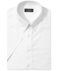Club Room Wrinkle Resistant Solid Short Sleeve Dress Shirt White