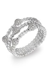 Women's Bony Levy Pave Ball Bead Crossover Diamond Ring