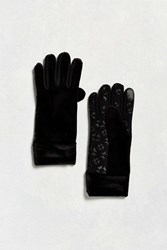 Urban Outfitters Velour Glove Black