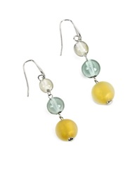 Antica Murrina Veneziana Atelier Nuance Grey And Amber Murano Glass Dangling Earrings Gray