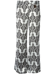 Thomas Wylde Printed Flared Trousers Black