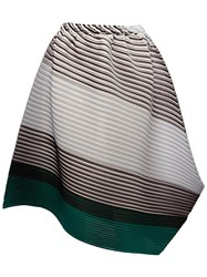 Issey Miyake Pleats Please By Pleated Asymmetric Skirt Multicolour