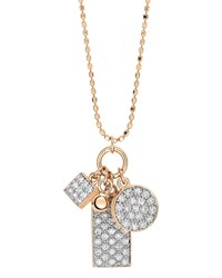 Ginette_Ny Ever 18K Rose Gold Diamond 3 Charm Necklace