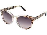 Toms Yvette Black White Lamination Fashion Sunglasses