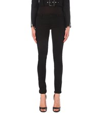 Givenchy Red Star Skinny Mid Rise Jeans Red Black