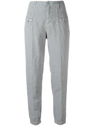 Transit Panelled Trousers Blue
