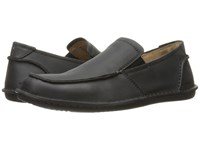 Hush Puppies Asil Roll Flex Black Leather Men's Slip On Shoes
