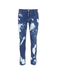 Dsquared 'Sexy Twist' Bleached Slim Fit Jeans Blue