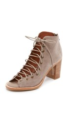 Jeffrey Campbell Cors Peep Toe Booties Taupe