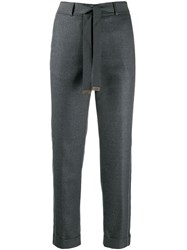 Peserico Tapered Trousers Grey