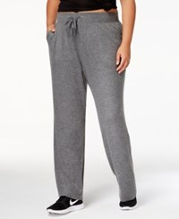 Ideology Plus Size Drawstring Sweatpants Created For Macy's Dark Pewter Heather