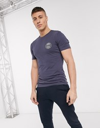 New Look Nyc Chest Print T Shirt In Dark Blue