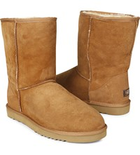 Ugg Short Sheepskin Boots Brown