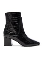 Givenchy Paris Croc Embossed Ankle Boots In Animal Print Black Animal Print Black