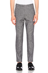 Carven Suiting Trousers In Black Checkered And Plaid