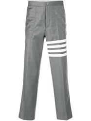 Thom Browne 4 Bar Slanted Pocket Chino Grey