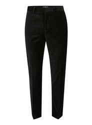 Topman Black Velvet Skinny Fit Suit Pants